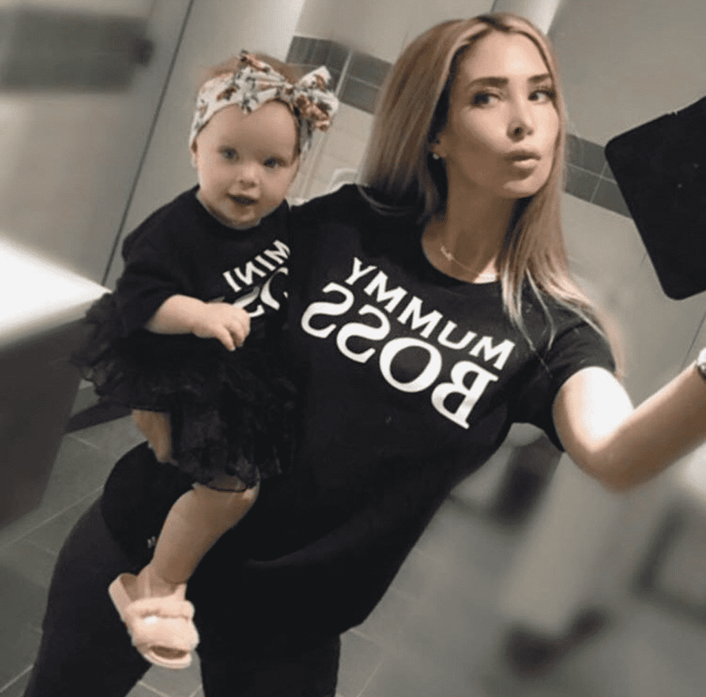 Mummy/Mini Boss Black Matching Tees (MRK X)