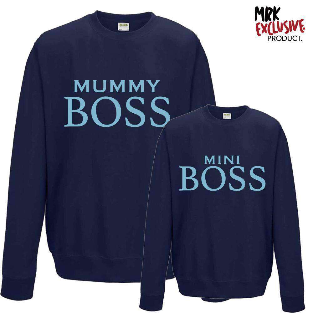 Mummy/Mini Boss Navy Matching Sweatshirts (MRK X)