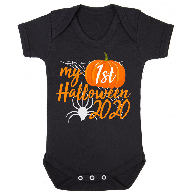 Personalised My 1st Halloween Baby Vest - Black (MRK X)