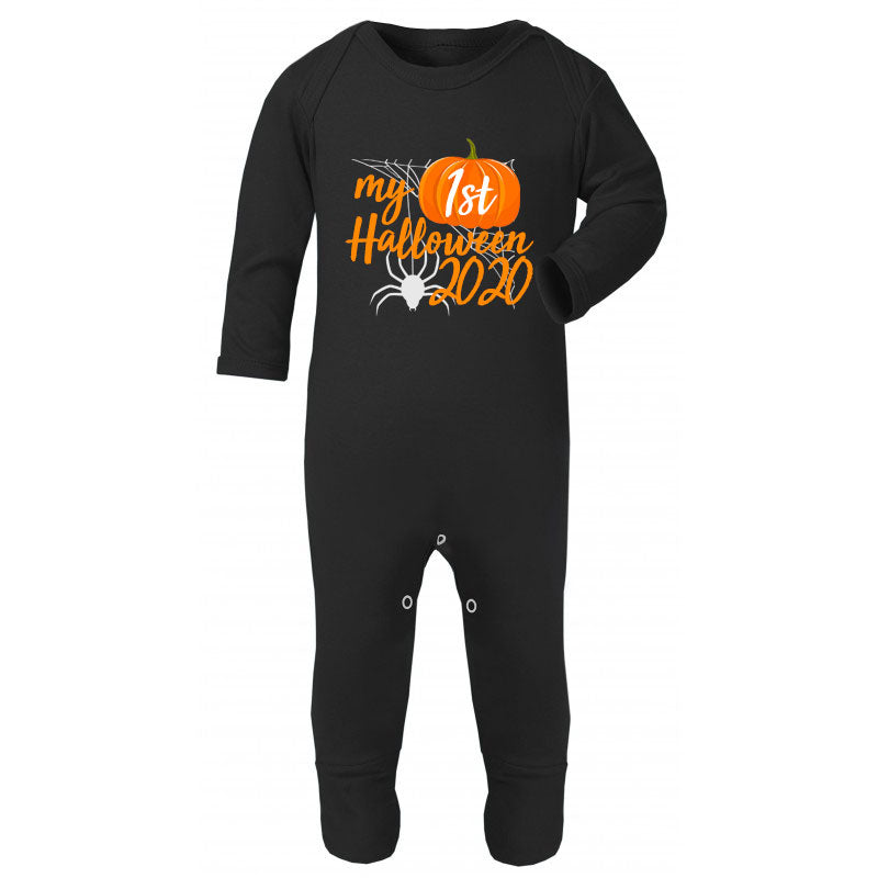 Personalised My 1st Halloween Romper - Black (MRK X)