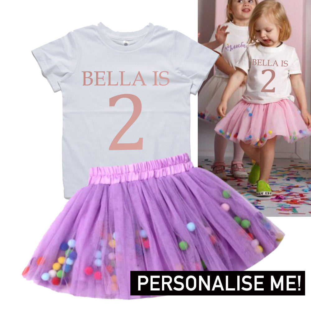 Personalised Name & Year Tutu Set (MRK X)