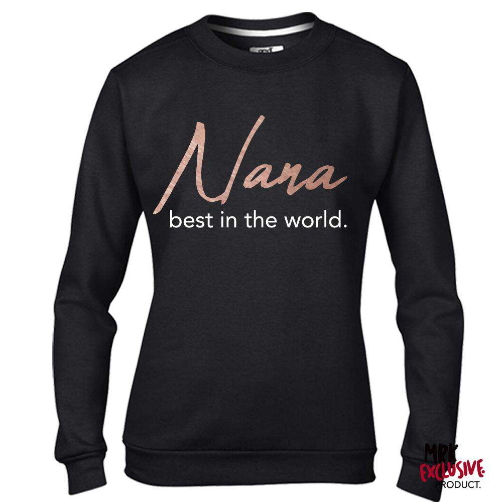 Nana Best In World Black/Rose Sweater (MRK X)