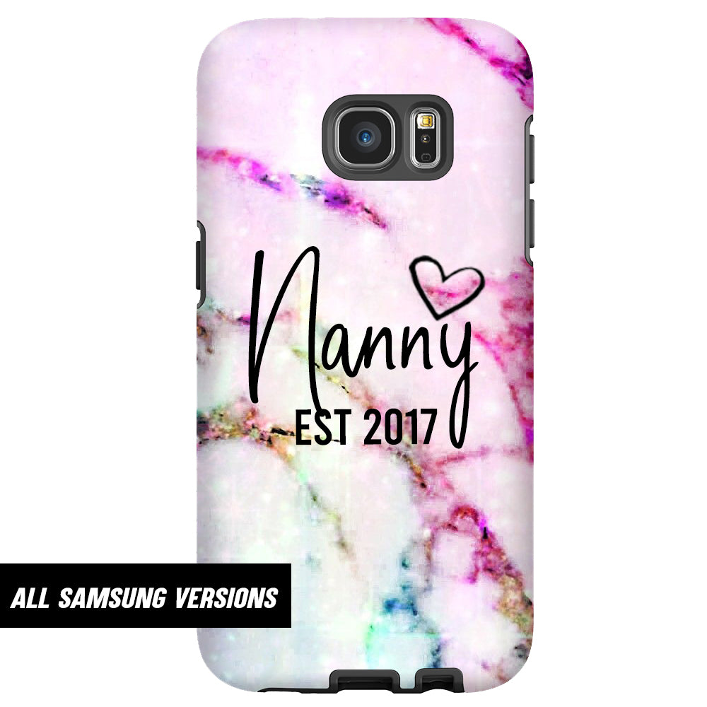 Personalised Nanny Script Established ALL Samsung Snap Phone Case (MRK X)