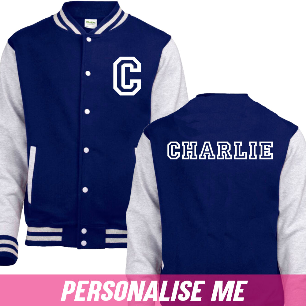 Personalised Collegiate Baseball Jacket (MRK X)