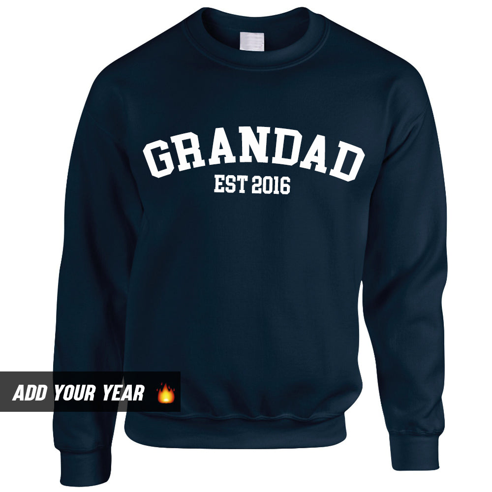 Personalised Grandad Established Sweatshirt (MRK X)
