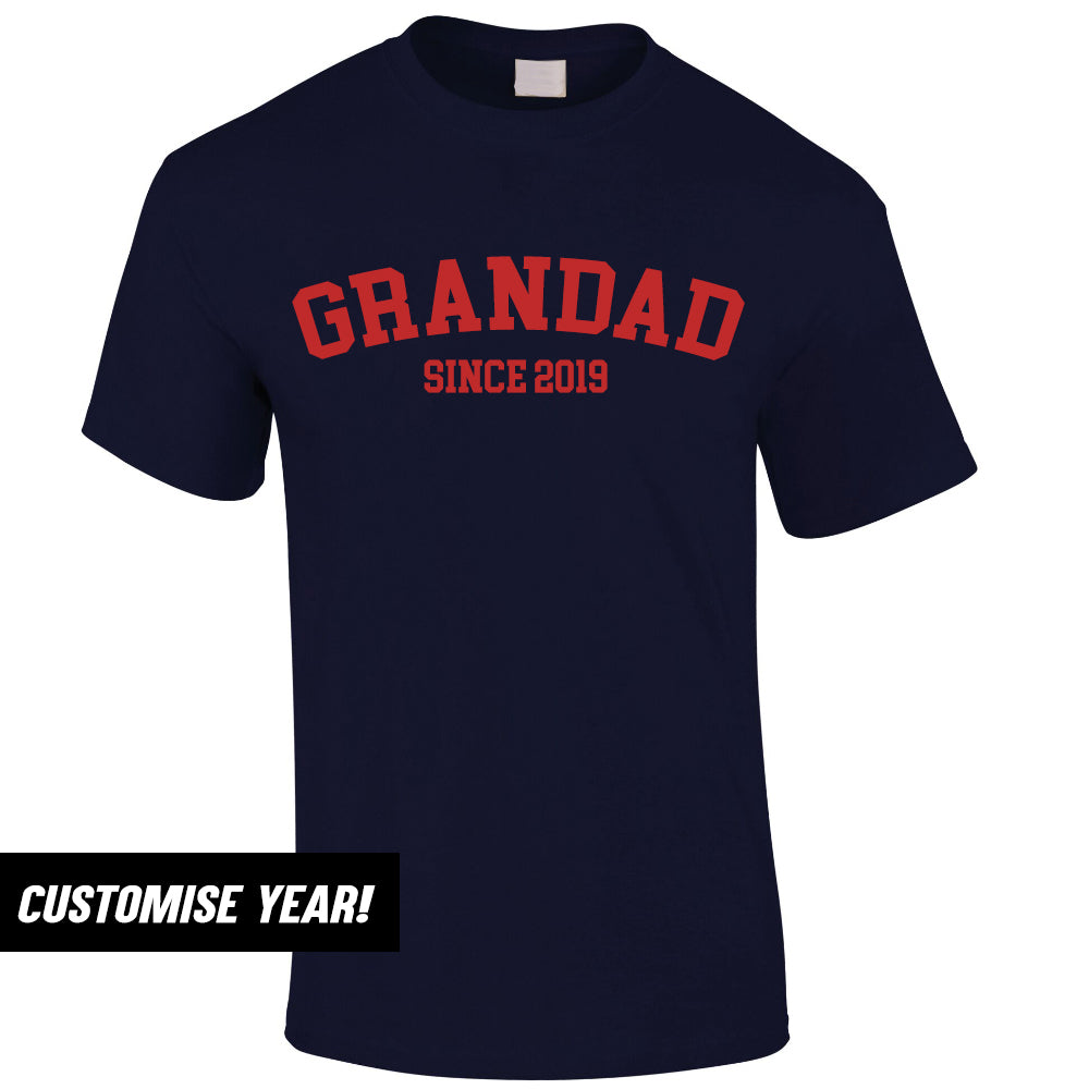 Personalised Grandad Since T-Shirt (MRK X)