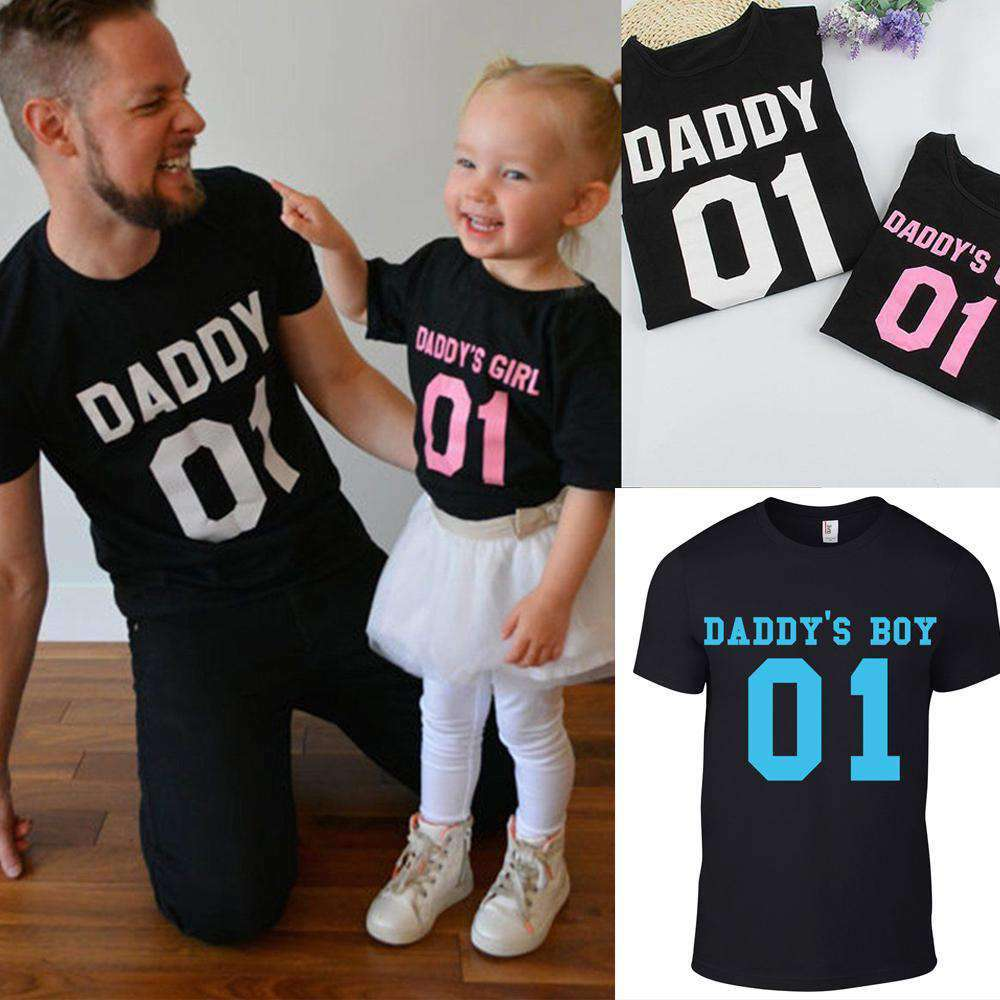 Daddy & Daddy's Boy/Girl Matching Black Tees (MRK X)