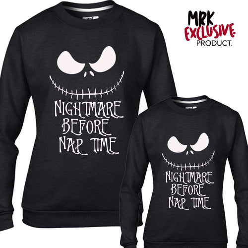 Nightmare Nap Time Adult & Kid Matching Black Sweaters (MRK X)