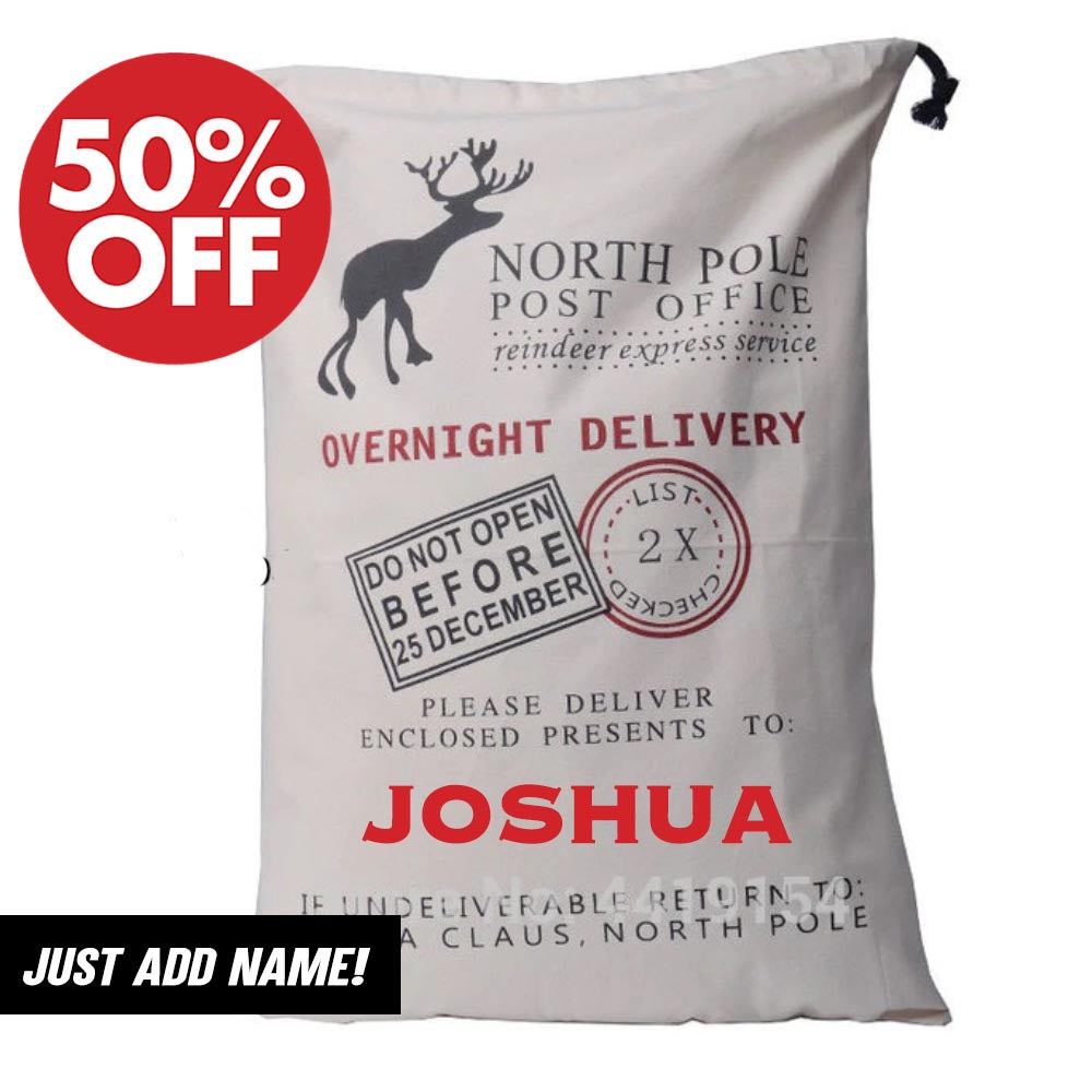 Personalised Christmas Gift Sacks (MRK X)