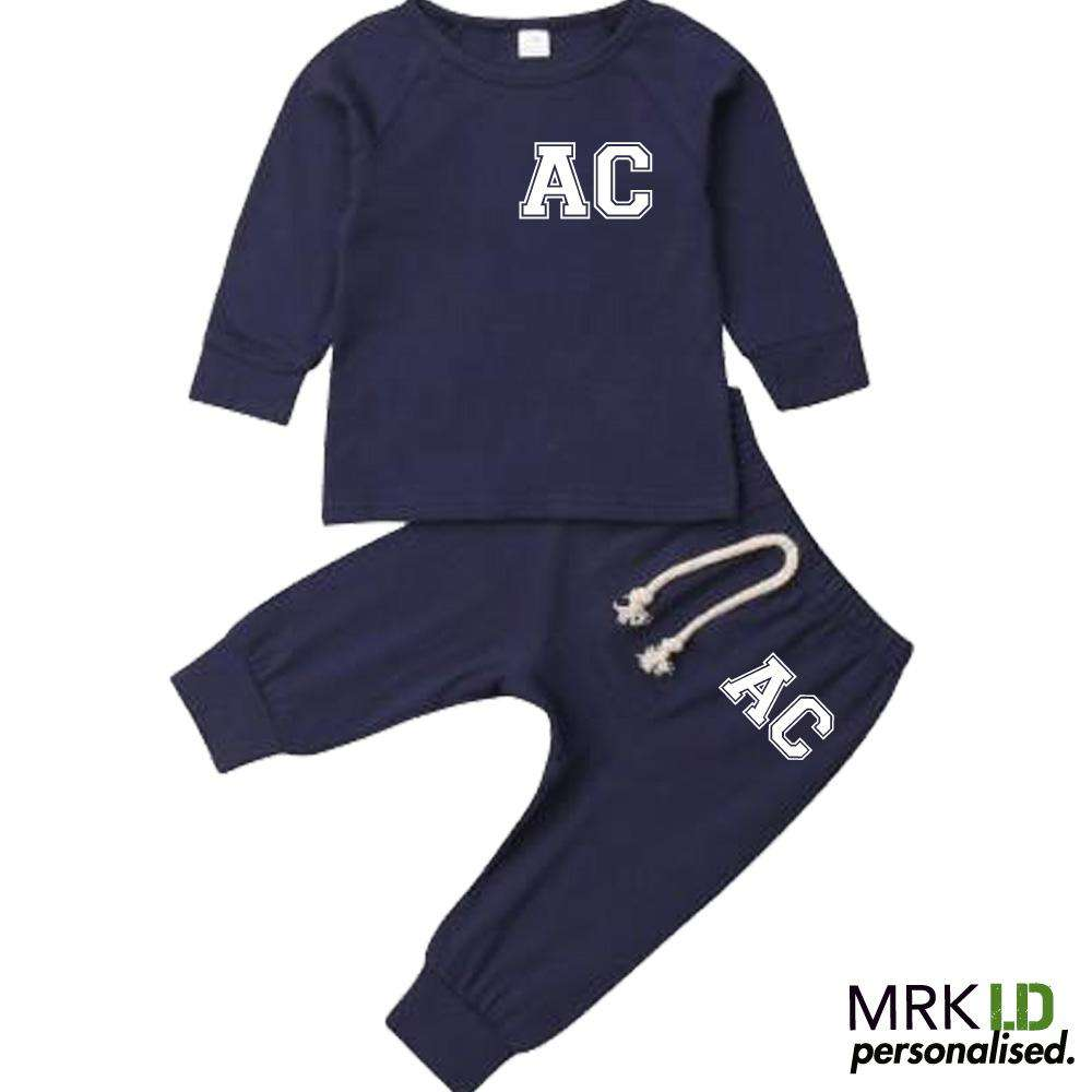 Personalised Initial Babies Summer Tracksuit Set (0-18 Months) (MRK X)