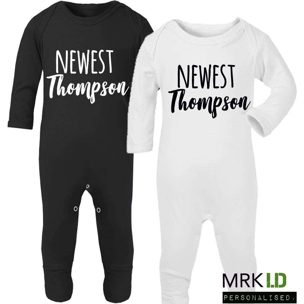 Personalised Newest Surname Rompers (MRK X)