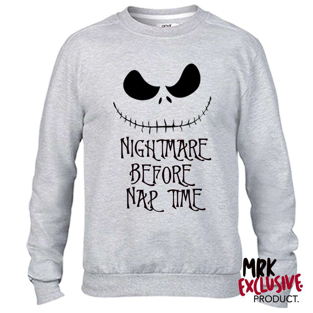 Nightmare Nap Time Adult Grey Sweater (MRK X)
