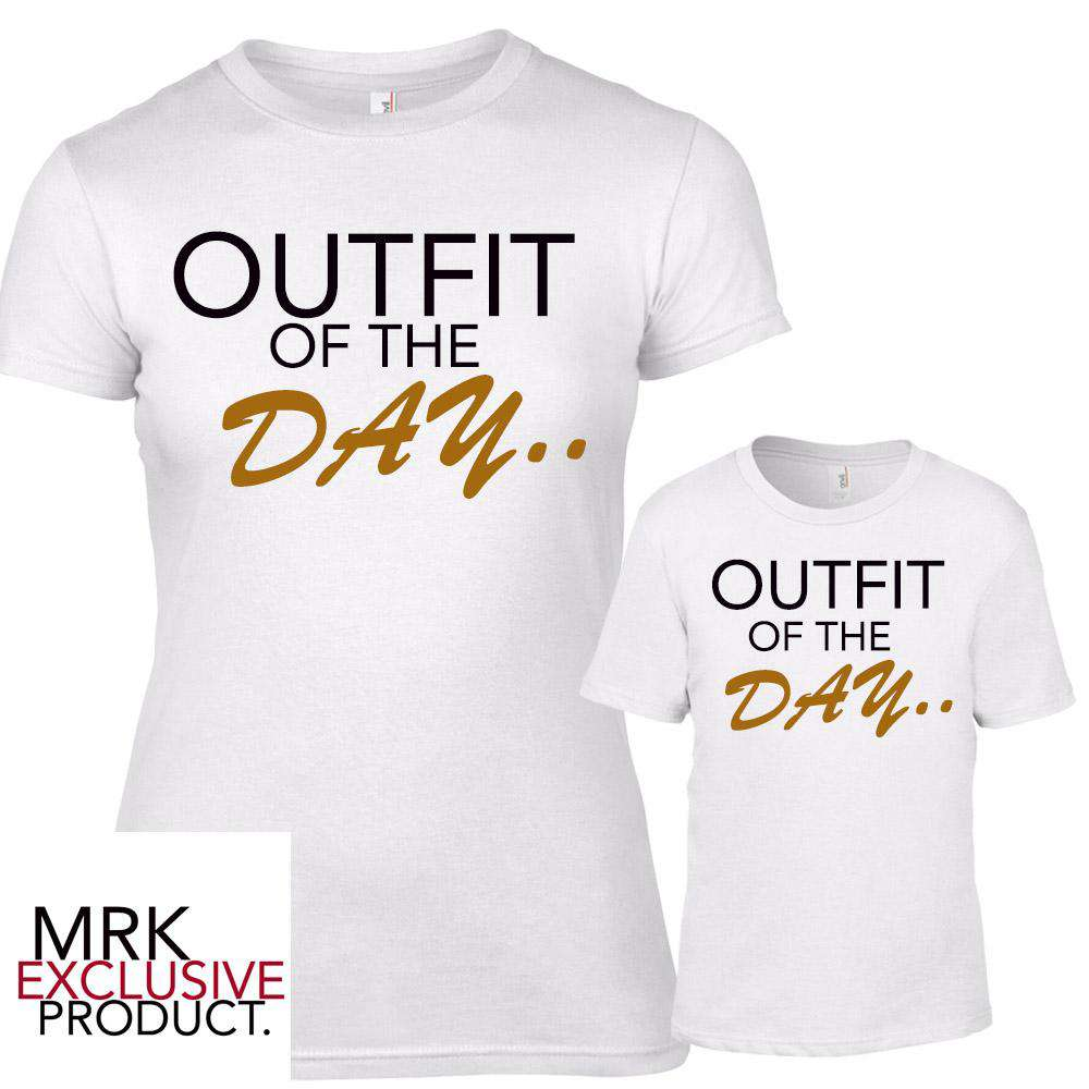 Outfits Of The DAY Matching White Tees (MRK X)