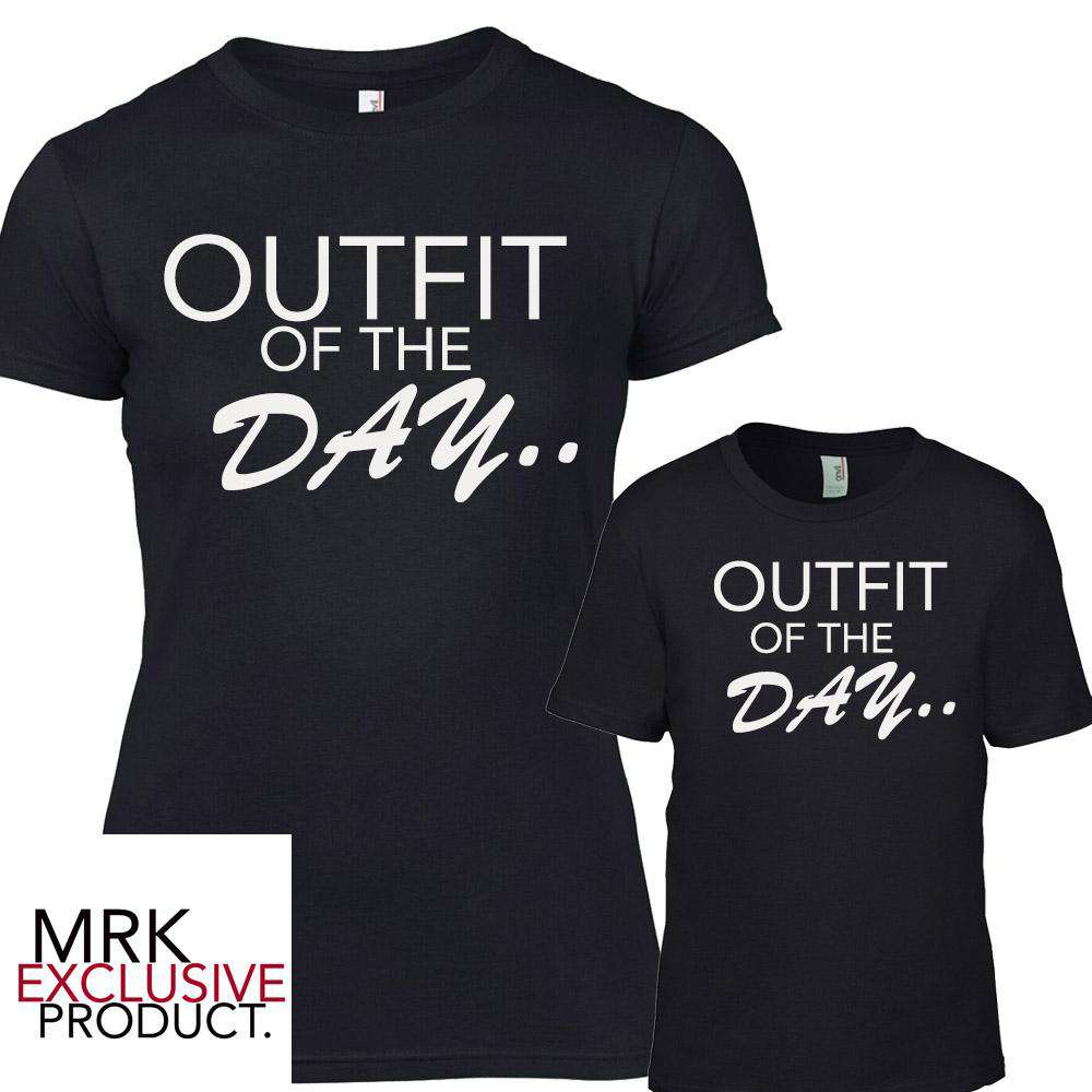 Outfits Of The DAY Matching Black Tees (MRK X)