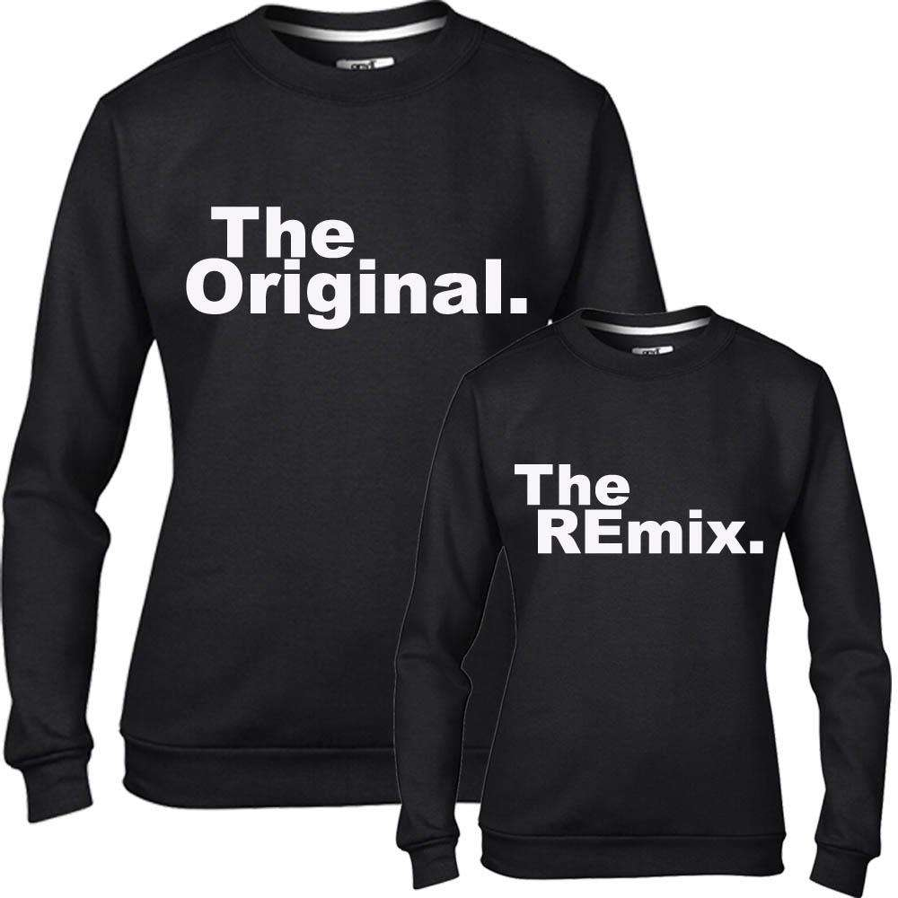Original/Remix Adult & Kid Black Matching Sweaters (MRK X)
