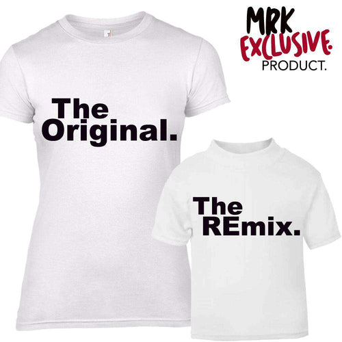 Original/Remix Family Matching Tees - WHITE -  (MRK X)