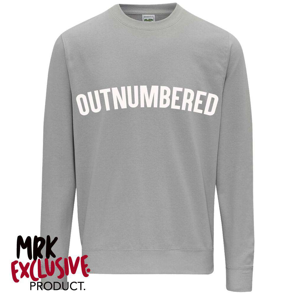 OUTNUMBERED Grey Sweater (MRK X)