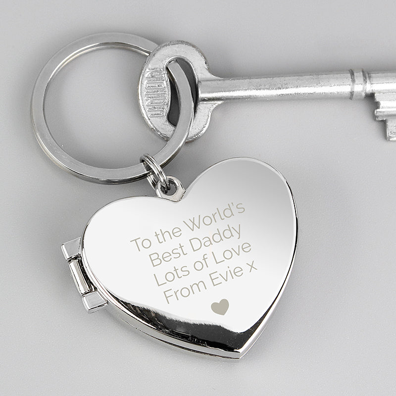 Personalised Heart Photoframe Keyring (MRK-iD)