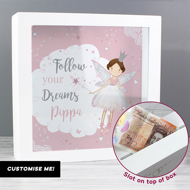 Personalised Fairy Princess Keepsake Box (MRK-iD)