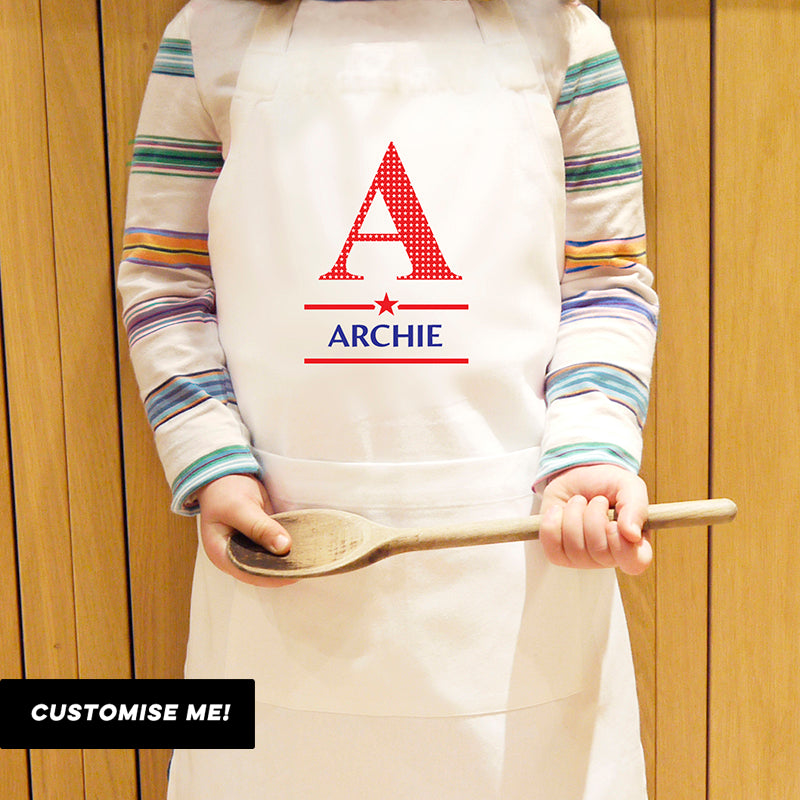 Personalised Boys Initial Children's Apron (MRK-iD)