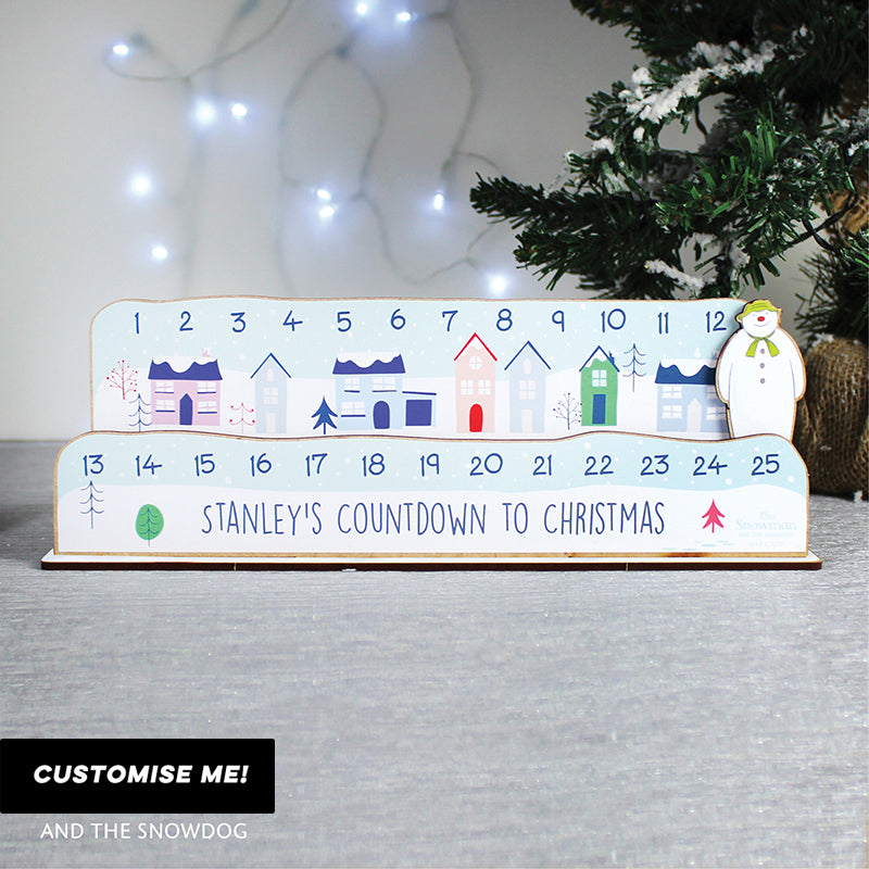 Personalised Make Your Own The Snowman Christmas Advent Countdown Kit (MRK-iD)