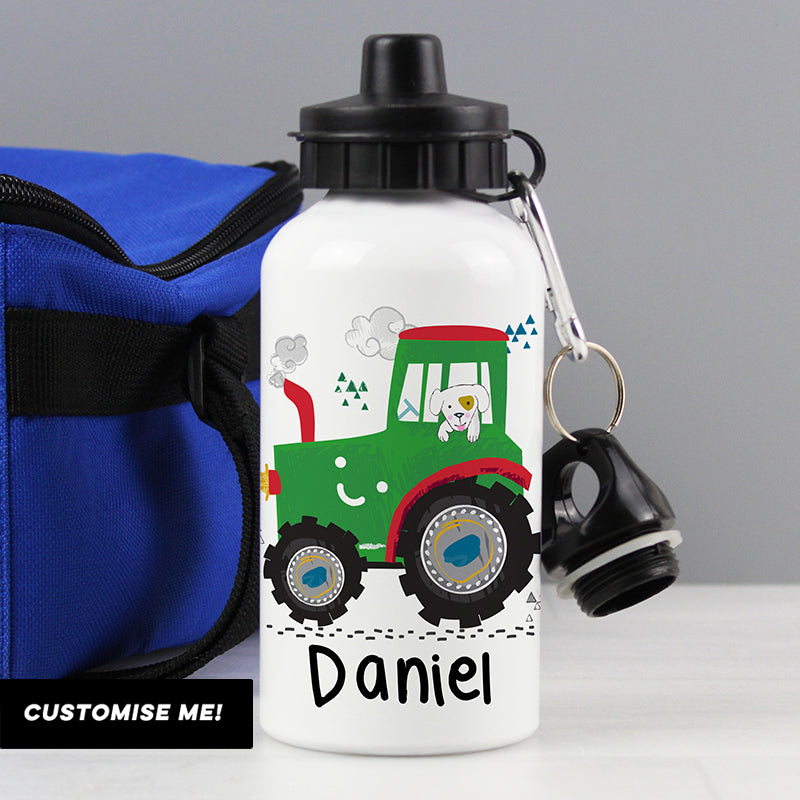 Personalised Tractor Water Bottle (MRK-iD)