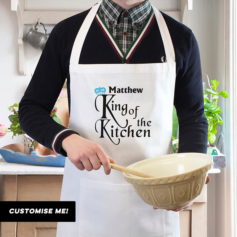 Personalised King of the Kitchen Apron (MRK-iD)