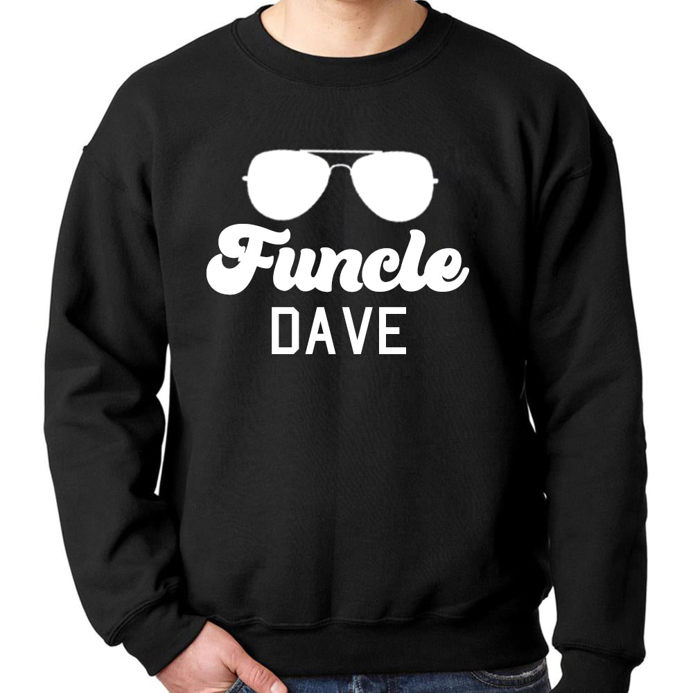 Personalised FUNCLE Sunglasses Uncle Sweatshirt (MRK X)