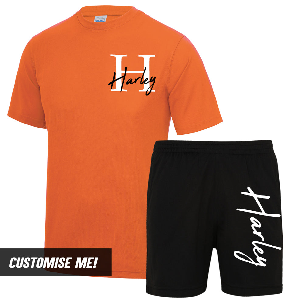 Personalised Portland Name & Initial T-Shirt & Short Set (MRK X)
