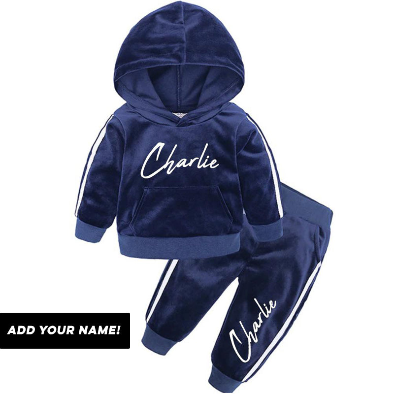 Personalised Presto Velour Tracksuit (6m-12 Years) (MRK X)