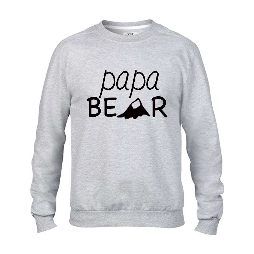 Personalised Matching Bear Family Light Grey Sweaters (MRK X)
