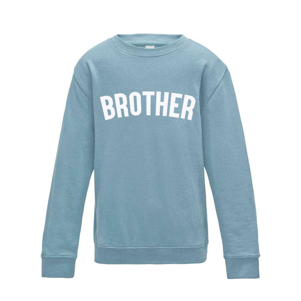 Brother/Sister Pastel Matching Blue Sweaters (1-13 Years) (MRK X)
