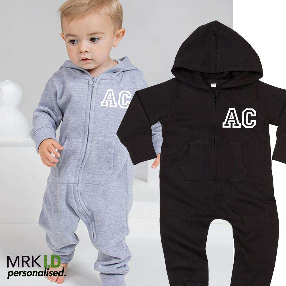 Personalised Initial Hooded Onesie Inf (0-3 Years) (MRK X)
