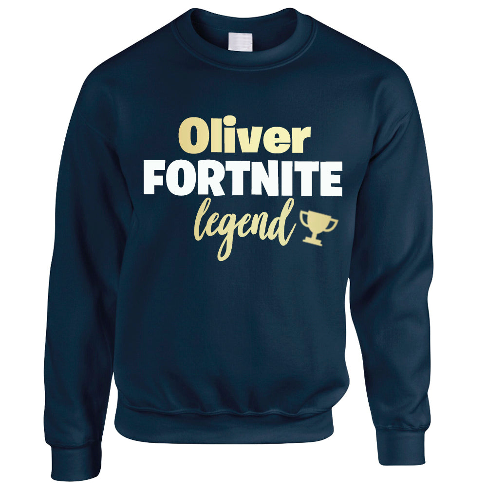 Personalised Fortnite Legend Kids Sweatshirt (MRK X)