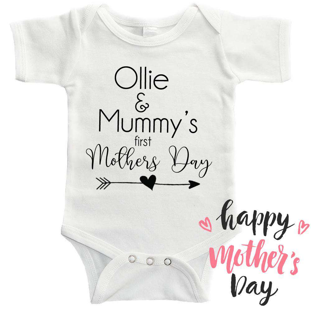 Personalised Kid & Mummy Mothers Day Bodysuit (MRK X)