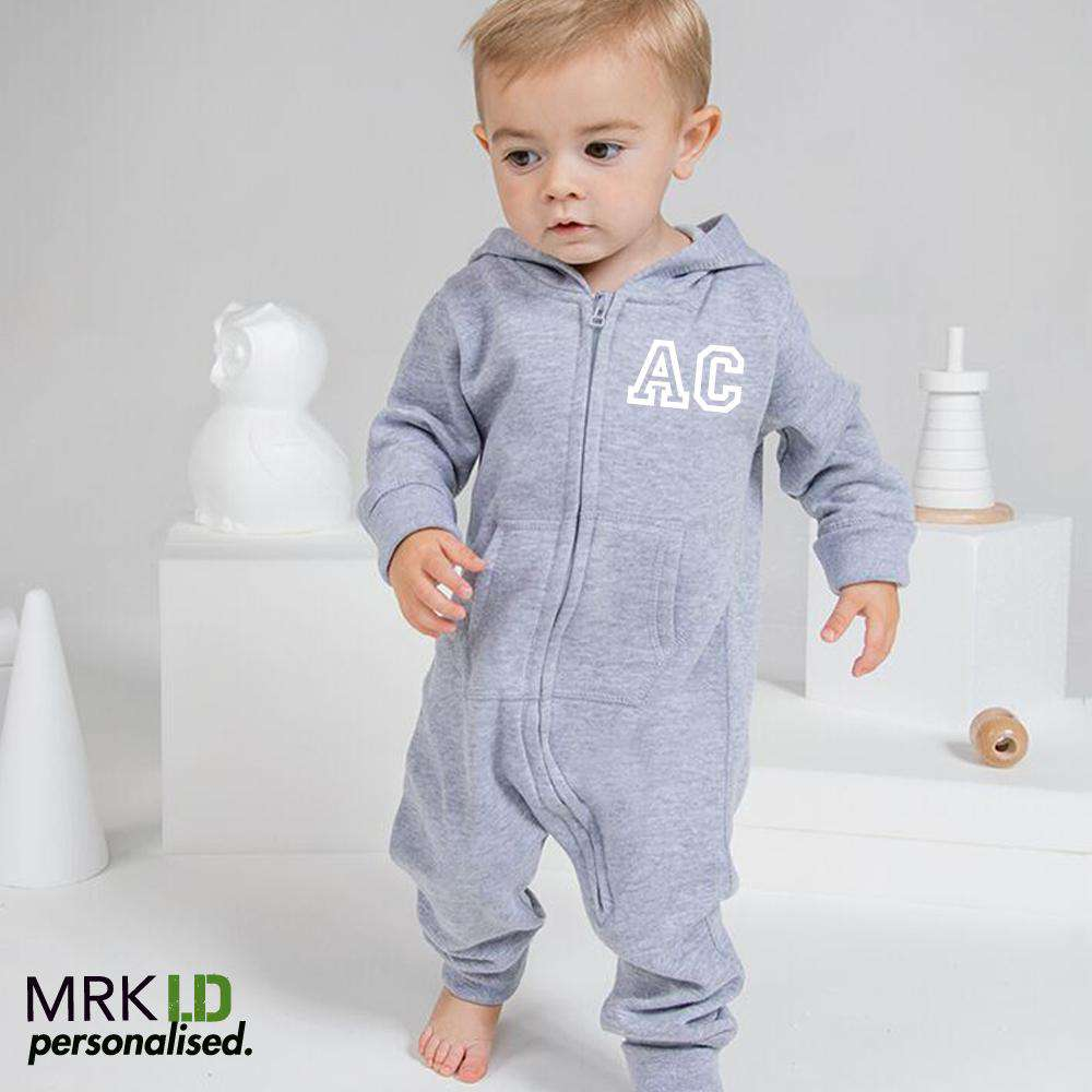 Personalised Initial Hooded Onesie (MRK X)