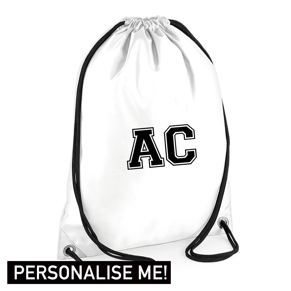 Personalised Initial Varsity Gym Sack (MRK X)
