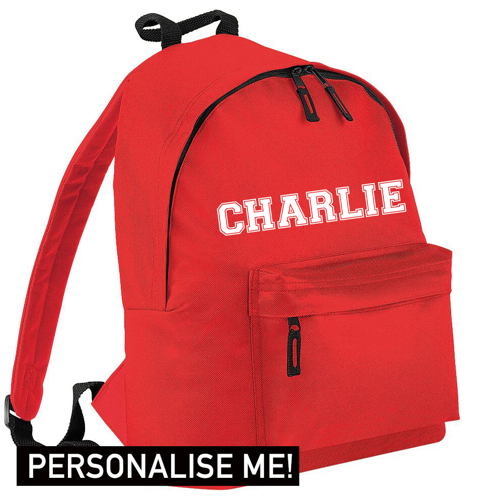 Personalised Name Varsity Junior Backpack (MRK X)
