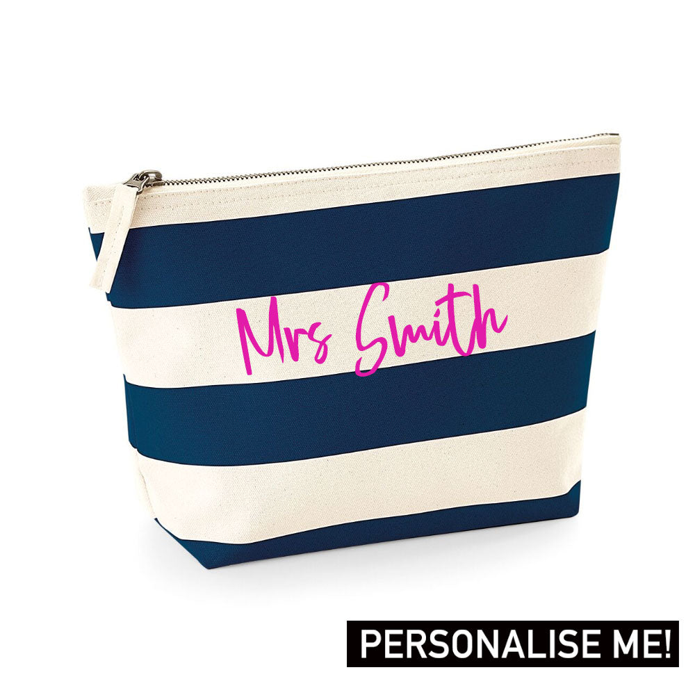 Personalised Mrs Nautical Accessory Bag (MRK X)