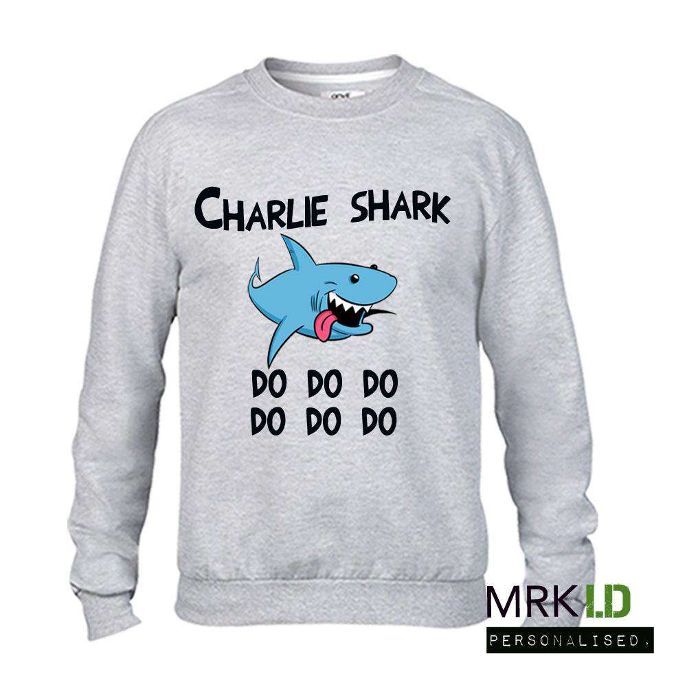 Personalised Baby Shark Grey Sweater (MRK X)