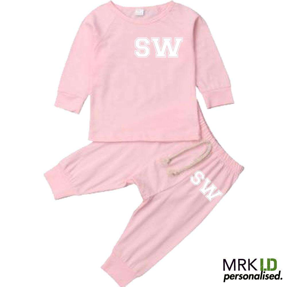 Personalised Langston Initial Infants Tracksuit Set (0-18 Months) (MRK X)
