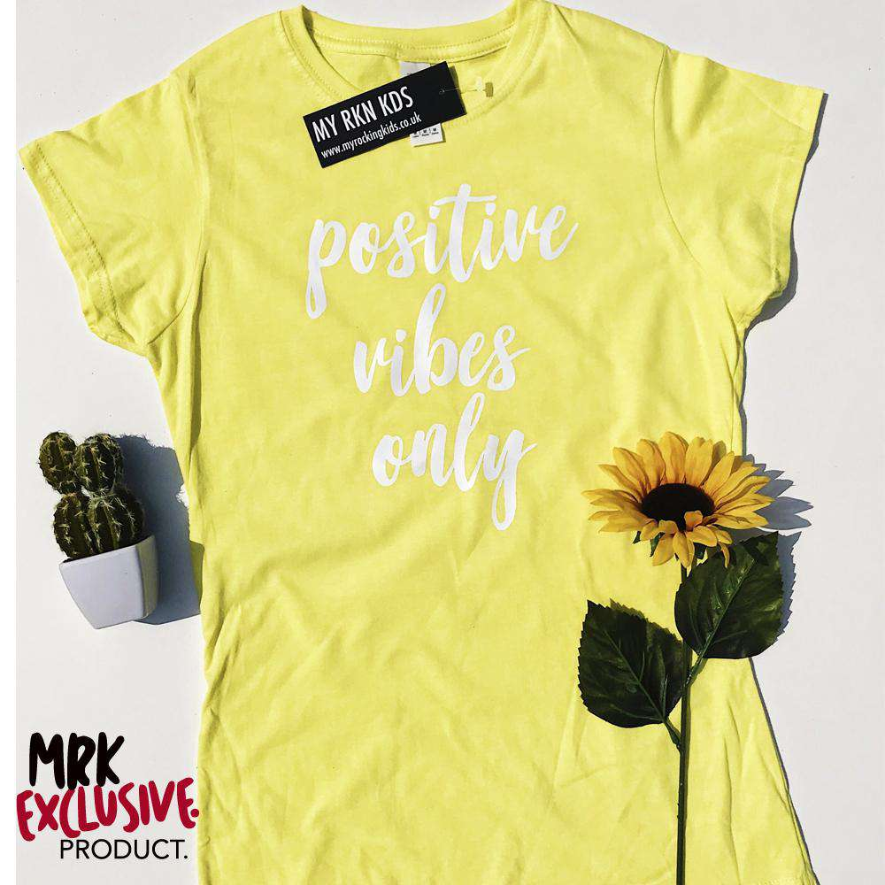 Positive VIBES Womens Lemon Crew Tee (MRK X)