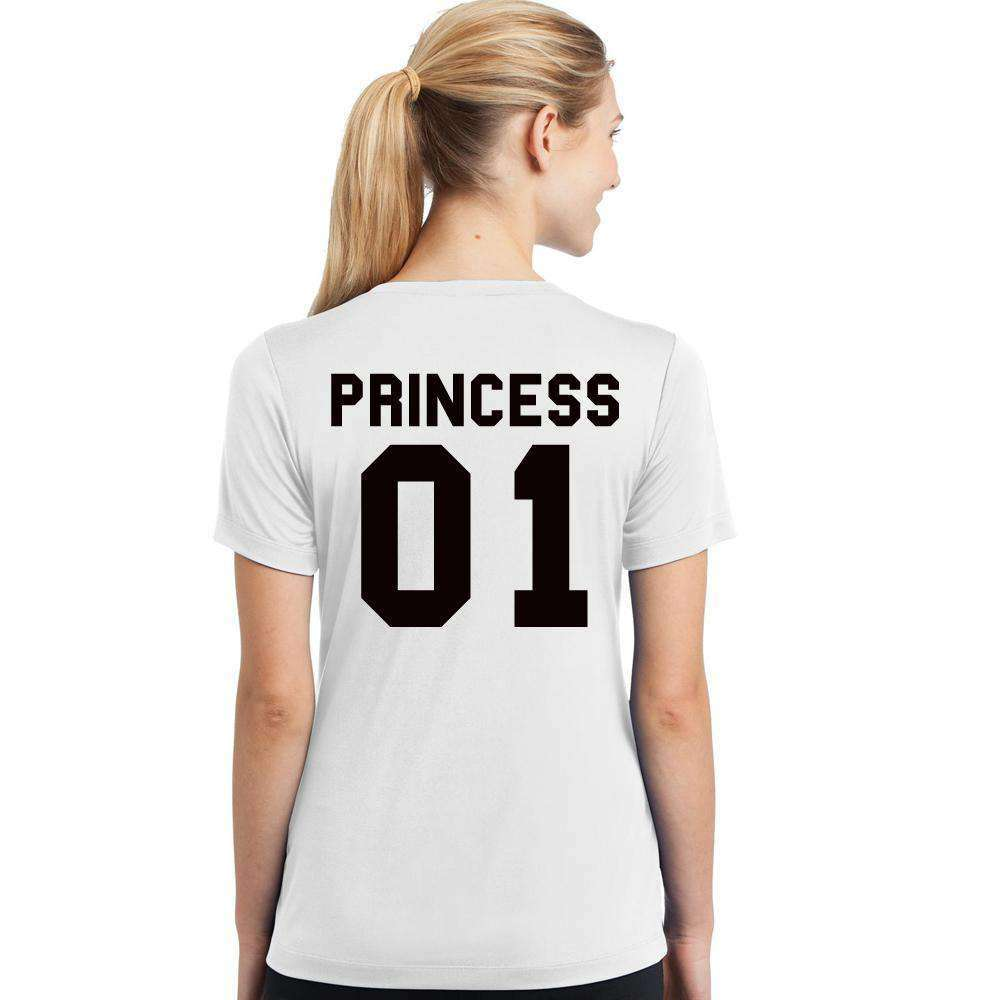 Princess Mum & Daughter Matching White Tees (MRK X)