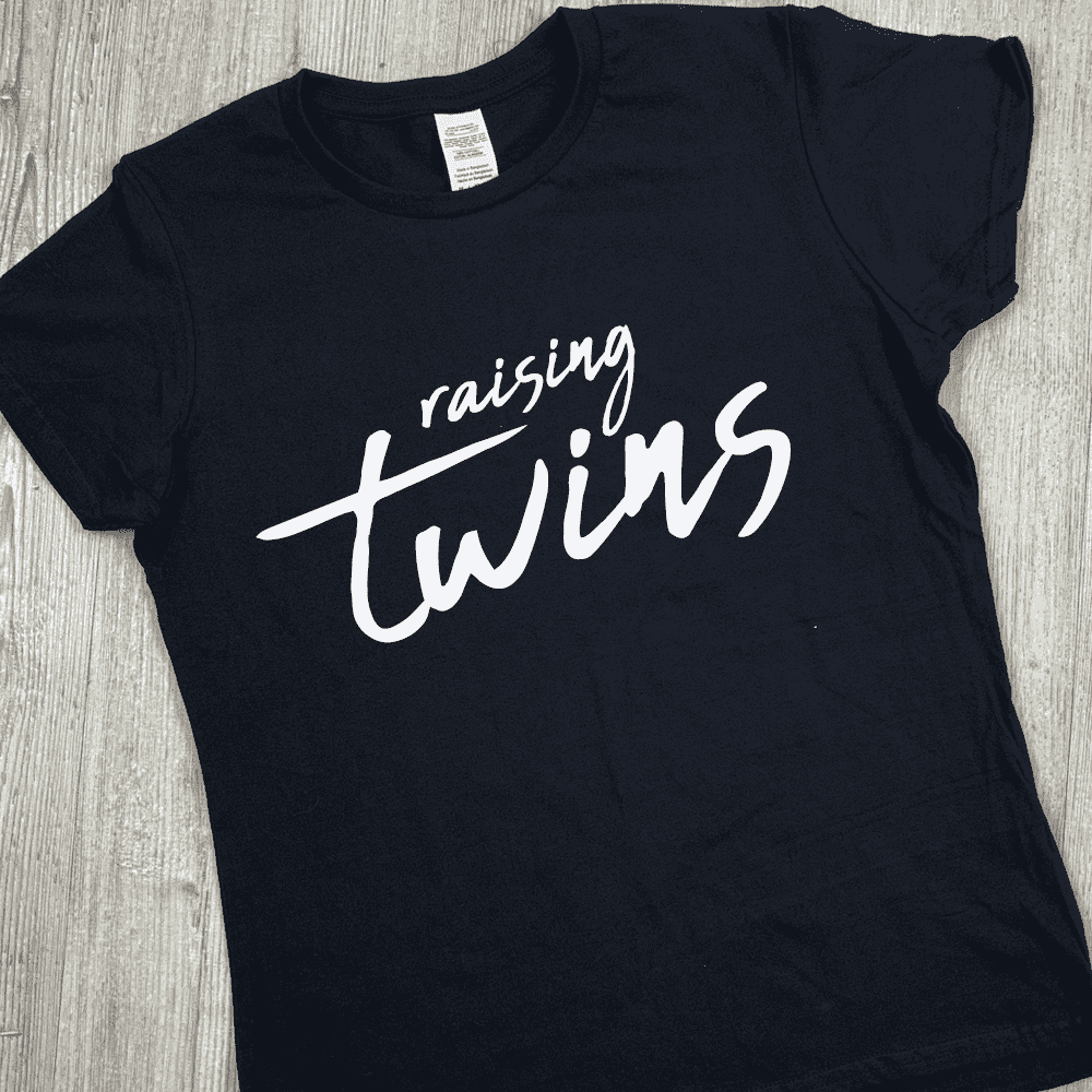 Raising Twins Black T-Shirt (MRK X)