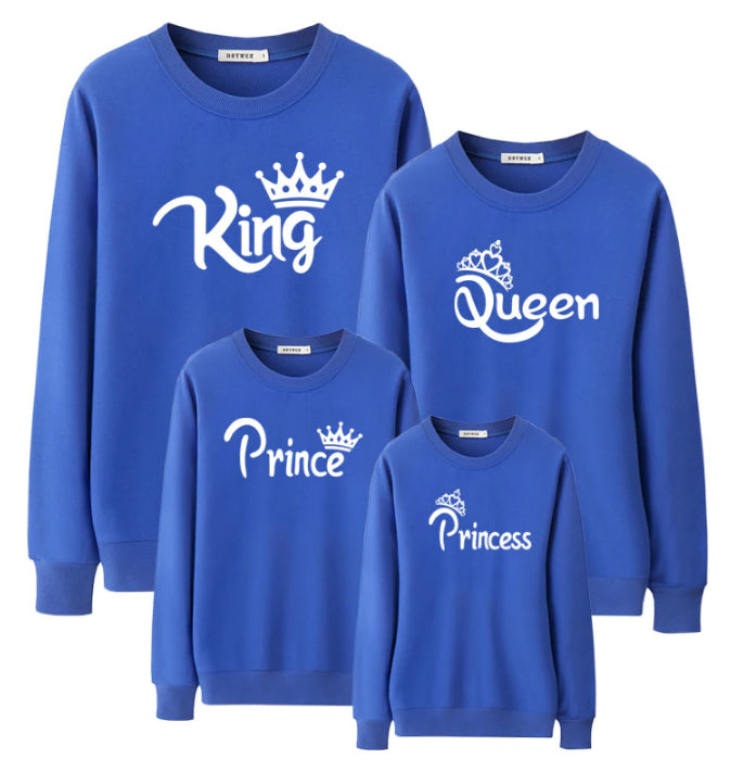 Our Royal Family Matching Crew Sweaters - Blue (MRK X)