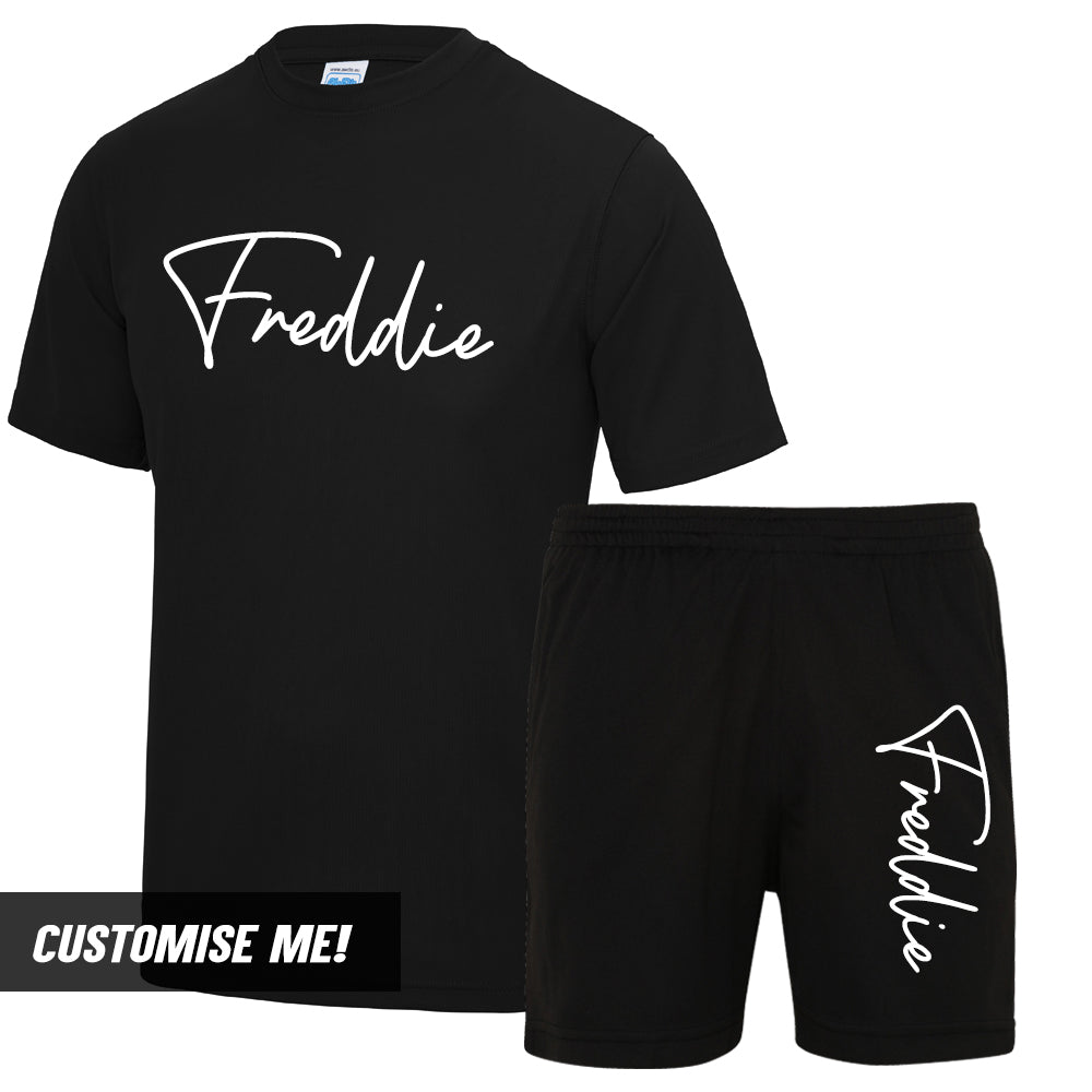 Personalised Tokyo Poly T-Shirt & Short Set (MRK X)