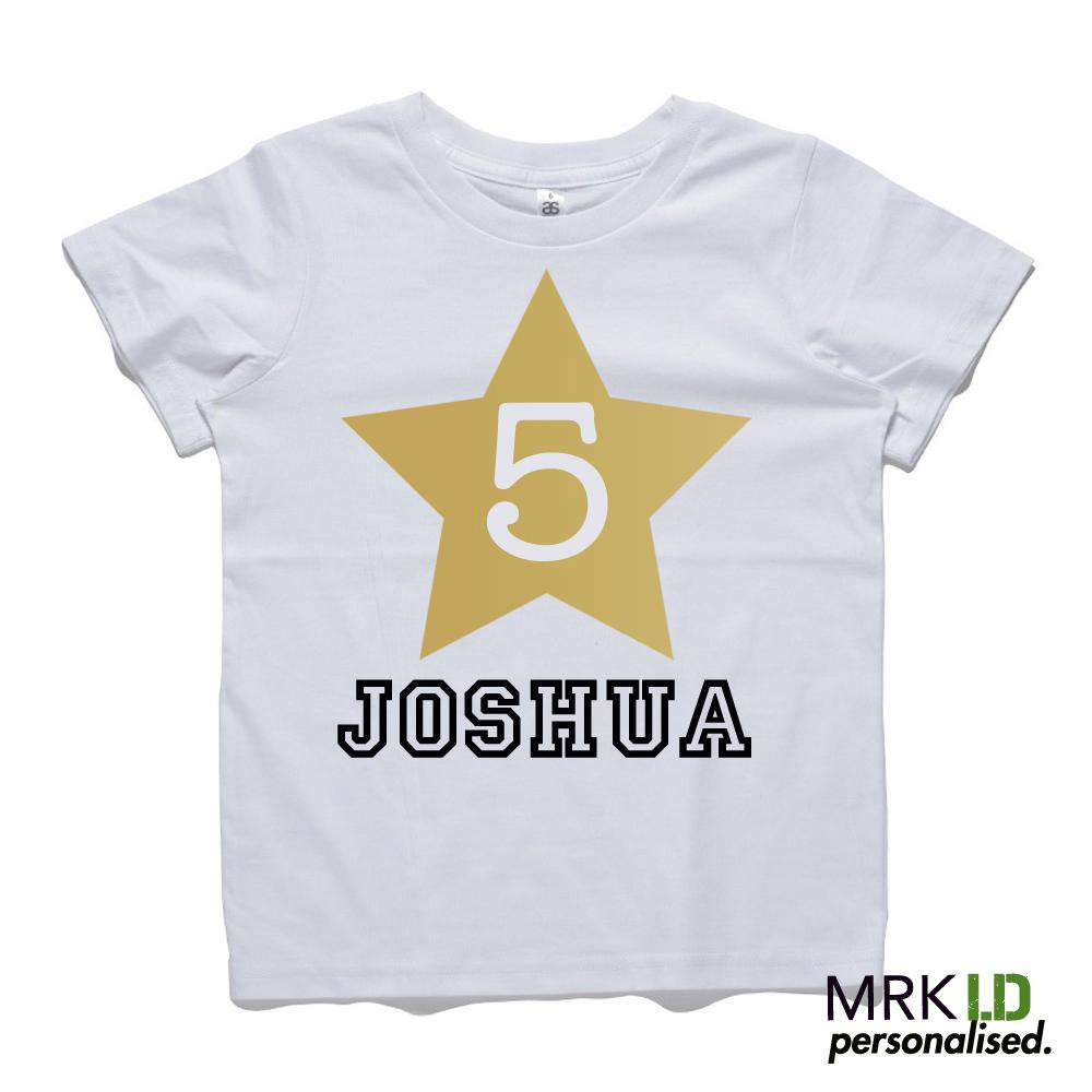 Personalised Star Age Tee (MRK X)