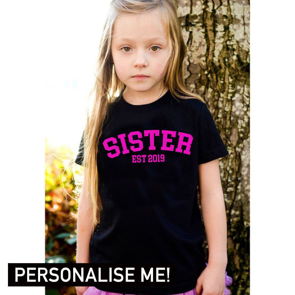 Personalised Sister Established College Tee (MRK X)