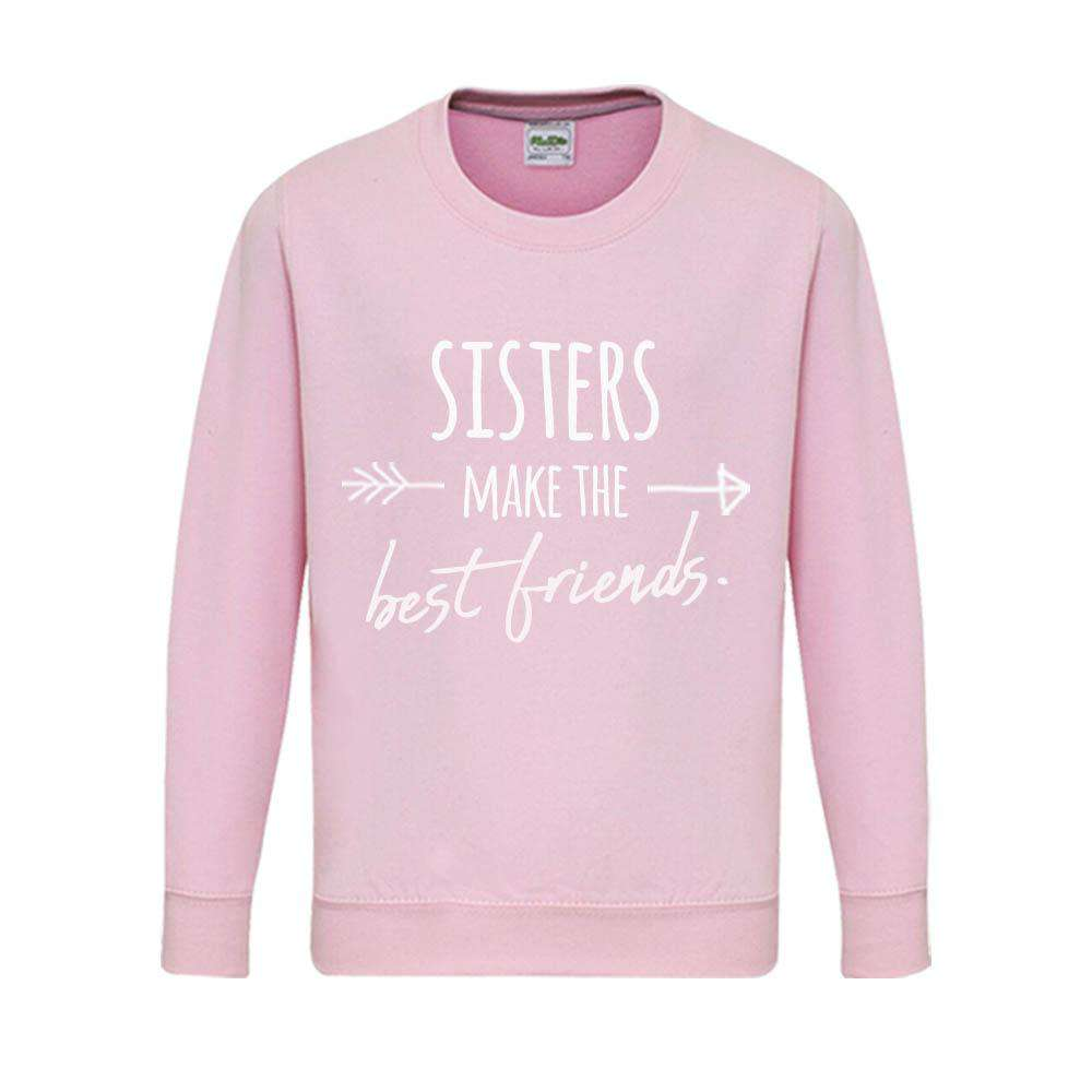 Sisters & Brothers Make Best Friends Matching Pink Sweaters (MRK X)