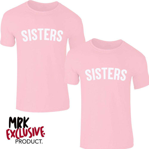 Sisters Pastel Matching Pink Tees (0-13 Years) (MRK X)